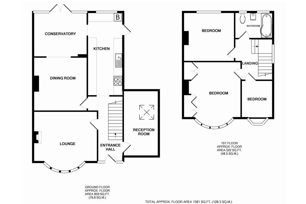 Semi detached house plans uk for Uk house floor plans